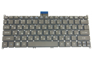 Клавиатура для Acer Aspire S3 S3-391 S3-951 S5 S5-391 TravelMate B1 B113 (серая)