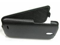Чехол для Huawei Ascend Y511 раскладной (кожа/черный)