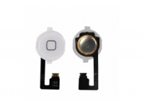 Шлейф/FLC iPhone 4G (с кнопкой Home) белый