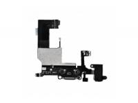 Шлейф/FLC iPhone 5 (разъём зарядки,разъём гарнитуры,микрофон,антенна) чёрный