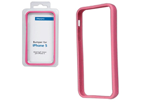 Bumper CLEAVE для iPhone 5 металл/винты (розовый)