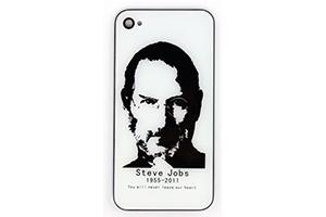 Задняя крышка для iPhone 4 Steve Jobs (Белый) (упаковка прозрачный бокс)