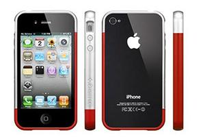 """Доп. АКБ защитная крышка для iPhone 4/4S """"N-Y-X"""" Ferrari 1800mA (красная)"""