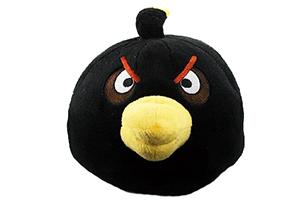 """Колонка """"Wrathful Birds Черная Птица"""" мягкая игрушка  (3,5 мм. питание от 2 х АА) (коробка)"""