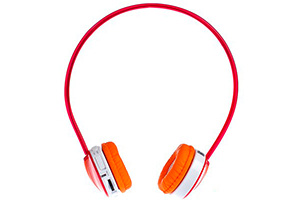 Наушники Enzatec FP111RE (red) Micro SD Player Headphones
