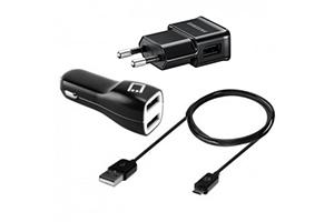 Набор 3 в 1 Travel Adapter для Samsung сеть/авто/кабель miсro USB (коробка)