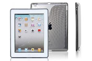 Силиконовый чехол для iPad 2 прозрачный текстура волны  (упаковка пакетик)