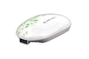 """Внешний АКБ """"Leneve"""" L-162 (1 USB выход 1А, 5000 мАч, белый с цветочками) (прозрачный бокс)"""