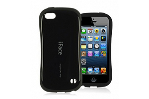 Защитная крышка iFace для iPhone 5/5s (черный/коробка)