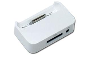 Стакан зарядки для iPhone 4/4s с выходом на наушники RCF-009 (коробка)