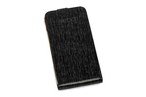 Чехол раскладной для iPhone 4/4S Gucci (коробка/кожа/черный)