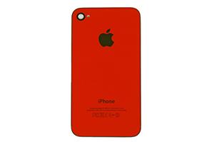 Задняя крышка для iPhone 4 копия (Красный) (упаковка прозрачный бокс)