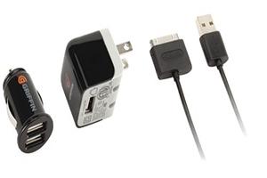 Набор 3 в 1 Griffin для Apple 30 pin сеть/авто/кабель (коробка/черный)