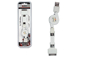 "USB Дата-кабель ""LP"" 3 в 1 (micro USB/mini USB/iPhone)"