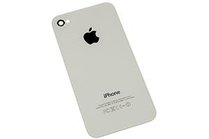 Задняя крышка для iPhone 4 с кристаллом копия (Белый) (упаковка пакет)