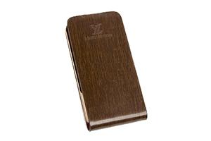 Чехол раскладной для iPhone 4/4S LV (коробка/кожа/коричневый)