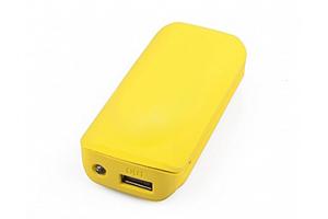 "Внешний АКБ ""MICHL"" (1 USB выход 1А, 5600 мАч, желтый)"