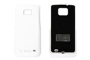 """Дополнительная АКБ защитная крышка для Samsung i9100 """"N-Y-X"""" 2100mA (матовый белый)"""