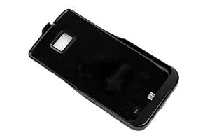 """Дополнительная АКБ защитная крышка для Samsung i9100 """"N-Y-X"""" 2100mA (матовый черный)"""