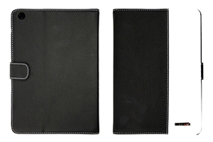 "Чехол/книжка для iPad mini 2 ""RICH BOSS"" (кожа, черный/белый)"