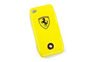 """Доп. АКБ защитная крышка для iPhone 4/4S """"N-Y-X"""" Ferrari 1800mA (желтый)"""