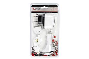 """Набор для зарядки для iPhone/iPod """"LP"""" USB/авто/сеть (блистер)"""