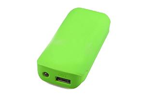 "Внешний АКБ ""MICHL"" (1 USB выход 1А, 5600 мАч, зеленая)"