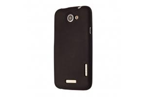 Силиконовый чехол для HTC one v TPU Case (черный матовый)