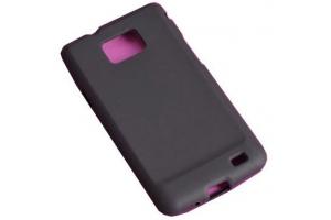Силиконовый чехол для Samsung i9100 Galaxy SII TPU Case (черный прозрачный)