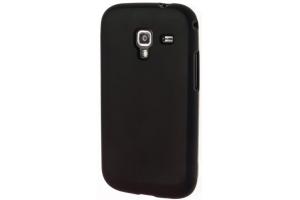 Силиконовый чехол для Samsung i9190 Galaxy S4 mini TPU Case (черный матовый)