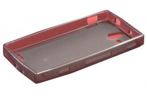Силиконовый чехол для Sony Xperia U TPU Case (черный матовый)