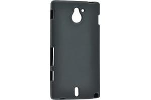 Силиконовый чехол для Sony Xperia ZR TPU Case (черный матовый)