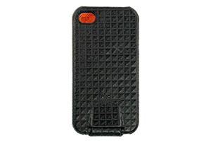 """Чехол для iPhone 4/4S """"FIGO"""" раскладной кожа (коричневая клетка)"""