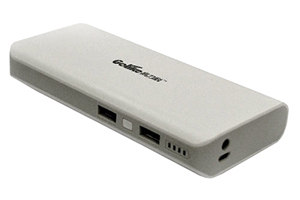 "Внешний АКБ ""Golike"" GLK-568 (2 USB выхода 1А + 2А, 12800 мАч, белый) (коробка)"