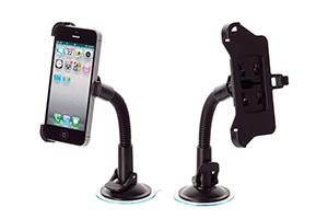 Держатель в авто для iPhone 4/4S на гибкой штанге (блистер)