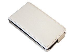 Чехол для HTC Desire C раскладной (кожа/белый)