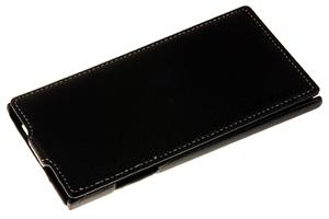 Чехол для Lenovo IdeaPhone P770 раскладной (кожа/черный)