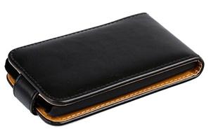 Чехол для Lenovo IdeaPhone S720 раскладной (кожа/черный)