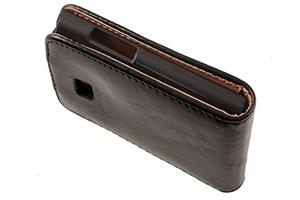 Чехол для LG L5 раскладной (кожа/черный)