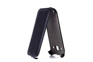 Чехол для Samsung Galaxy Core GT- i8262 раскладной (кожа/черный)