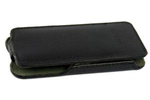 """Чехол для Samsung Galaxy S5 SM-G900F """"LP"""" раскладной кожа (черный)"""