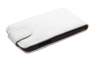 Чехол для Samsung Galaxy S5 SM-G900F раскладной кожа (белый)