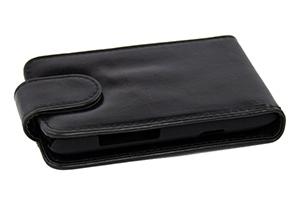 Чехол для Samsung Galaxy S5 SM-G900F раскладной кожа (черный)