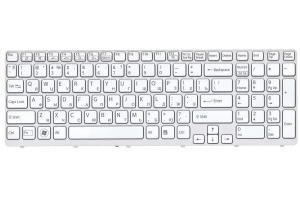 Клавиатура для Sony Vaio SVE15 с рамкой без подсветки (белая)