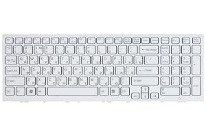 Клавиатура для Sony Vaio VPC-EH с рамкой (белая)