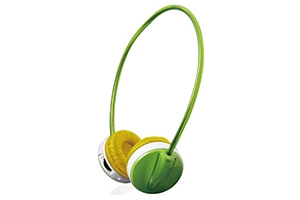 Наушники Enzatec FP111GR (green) Micro SD Player Headphones
