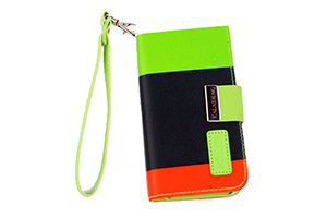 "Чехол для iPhone 5/5S ""KLD Colorful Leather Wallet Pouch Case"" Army Green"