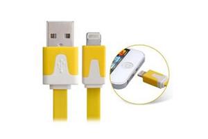"USB Дата-кабель ""LP"" для Apple iPhone/iPad/iPad mini 8 pin плоский узкий (желтый/европакет)"