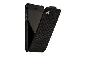 """Чехол для iPhone 5 """"HOCO"""" HI-L015 Lizard pattern lather case раскладной кожа"""