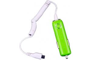 "АЗУ ""In Car Charger"" 1000мА (Micro USB) (зеленый/коробка)"